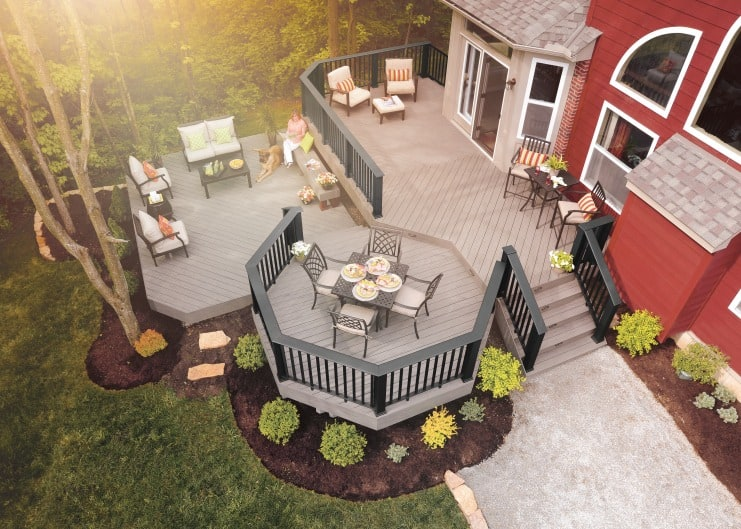 rustic charm aerial view of deck